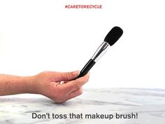 DON'T TOSS OLD MAKEUP BRUSHES, RECYCLE THEM!  Make the choice to clean your makeup brushes instead of tossing them out and buying new ones! Gently massage the ends with olive oil, then wash with JOHNSON'S® Baby Shampoo, and rinse well. Let dry thoroughly and they're ready to be used again!