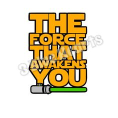 The Force That Awakens You SVG dxf Studio pdf jpg png by 3BlueHeartsDesign on Etsy