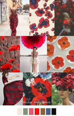 Mood Board: Summer Flower Color Inspiration, More at: http://www.brabbu.com/en/inspiration-and-ideas/moodboard/mood-board-summer-flower-color-inspiration #MoodBoardIdeas #MoodBoardDesign #MoodBoardFashion