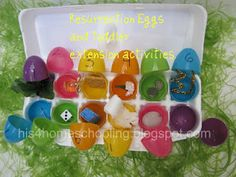 Resurrection Eggs and Toddler Extension Activities from H is for Homeschooling
