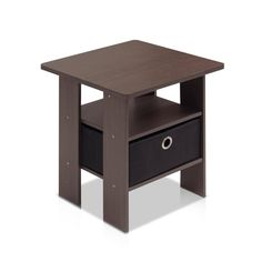 Furinno End Table Bedroom Night Stand w/Bin Drawer, Dark (Dark Brown/Black). These models are designed to fit in your space, style and fit on your budget. All the materials are manufactured in Malaysia and compliant with CARB regulations. Cube Side Table, Side Table With Storage, Table Storage, Side Tables, Small End Tables, End Table Sets, Tv Entertainment Stand, Drawer Shelves, Storage Cabinets