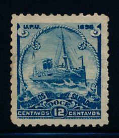 STAMP EL SALVADOR 1856 MNH, VALUABLE DISTURBED GUM STAMP - bidStart (item 46333172 in Stamps... El Salvador)