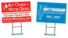 Marketing your business with clever yard signs.