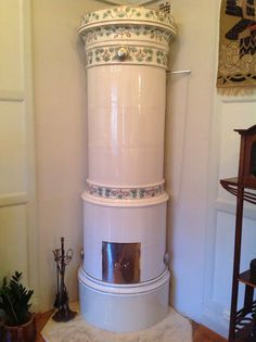 SWEDISH INVENTIONS:Swedish ceramic stove (kakelugn), ca. 1908-1912. It was invented by the two Swedish engineers Cronstedt and Wrede after having been asked by the Swedish government in 1767 to come up with a solution to end a crisis in the fire wood supply due to inefficient stoves.  The Swedish ceramic stove is extremely efficient.