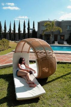 The perfect chair for lounging poolside with your best friend {cocktails recommended}.