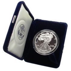 Shop 1997-P $1 American Silver Eagle Proof w/Box & COA and other jewelry, art, coins, rugs and real estate at www.aantv.com