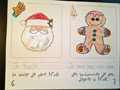 Madame Belle Feuille - french immersion 5 senses at Christmas, free printable