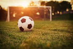 Soccer Field Sunset Wall Mural: Sports: Soccer: A sense of calmness reigns over the soccer field as the sun sets on yet another day at the park. Any wall mural image that you choose can be printed on demand. Your specifications will be met for any interio Soccer Games, Play Soccer, Football Soccer, Soccer Ball, Football Field, Football Odds, Soccer Room, Soccer Stuff, Soccer Skills