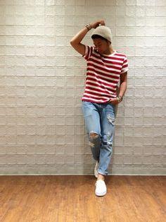 ikuto│JUNRedのTシャツ・カットソーコーディネート