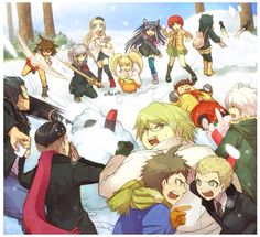 SDR2 in winter lol at Tsumiki