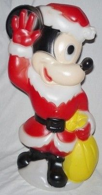 Vintage Christmas Blow Mold ~ Mickey Mouse as Santa Claus by Empire Blow Molds