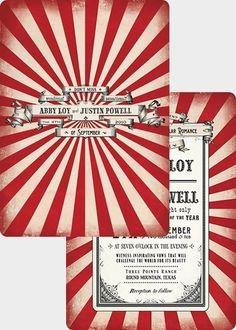 Vintage Carnival invitations
