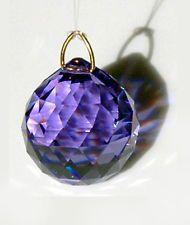 8558-20mm Blue Violet Swarovski Sphere Austrian Crystal Ball Prism Suncatcher - $14.15
