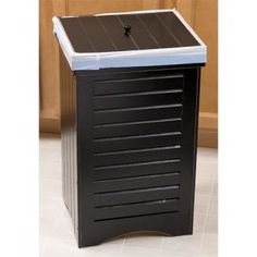 decorative indoor trash cans. Wood Trash Cans  Decorative Recycle Bins outdoor indoor trash cans recycle bins ashtrays for commercial office or home Great can I wonder how sturdy it is Red Rolling Wooden