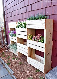Let's get building for outdoors:  Today I'm sharing my version of the vertical planter we'll be building at The Home Depot DIY Workshop this Saturday, April 11th at 10am. The workshop team and I will