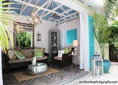 Turning an old garage into a gret little hideaway!!     belle maison: Reader Makeover: Old Garage to Fabulous Outdoor Cabana