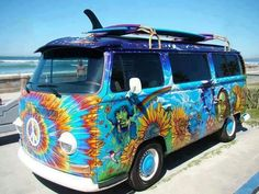Colorful Hippie Van