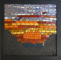 From the Dark Hills Series, this mosaic came about by my fascination of the rich bright colours of the sunset in the autumn and winter and the contrasting dark shadows on the land. The sun seems to...