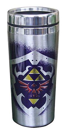 Nintendo The Legend of Zelda Link and Hylian Shield Travel Mug, 15oz