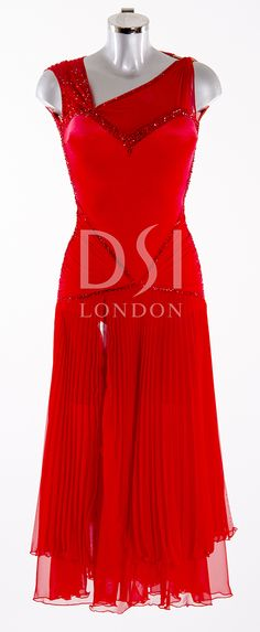 Flamenco Ballroom Dress as worn by Janette Manrara on Strictly Come Dancing 2014. Designed by Vicky Gill and produced by DSI London