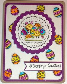 Easter Chickies & Eggs card by christyscraftcorne - Cards and Paper Crafts at Splitcoaststampers