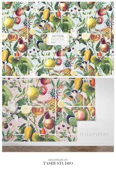 Luxurious tropical seamless patterns with exotic fruits and vegetation elements developed into seamless patterns and also comes with individual motifs. Perfect for a wide range of products from printed fashion apparels, home decor to wallpaper and interiors. #prints #patterns #fabricdesign #textiledesign #tropicalprints #watercolours #printeddesign #springsummerprint #luxurypatterns #designs #art #frutas #fruitspatterns #vibrantprints Textile Design, Fabric Design, Ed Design, Tropical Pattern, Exotic Fruit, Beautiful Patterns, Print Patterns, Vibrant, Watercolor