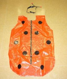 Disfraz de mariquita con bolsas