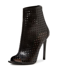 Perforated Leather Peep Toe Bootie from Perfect Peep-Toe Booties on Gilt
