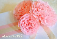 Crepe paper peonies tutorial. And I have so much crepe paper left over from parties -- perfect!