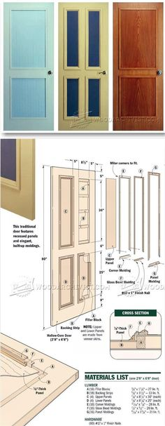 Making Interior Doors - Door Construction and Techniques | WoodArchivist.com