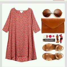 17/10 mon- off shoulder orange dress, sandals