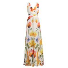 CHICUU - CHICUU Floral Print V-Neck Pleated Beach Maxi Dress - AdoreWe.com