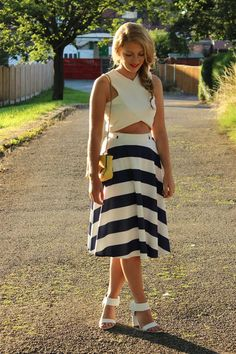 We're in love with this striped midi- £5 #Primania