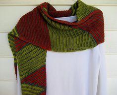 modern geometric stripes knitted wool scarf by DutchDaisyDesign, $55.00
