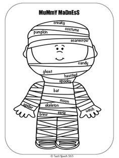 Free! Mummy Madness for sentence practice, descriptors
