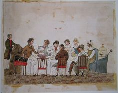 """"""" Called and passed an hour with the Godwins. That family does really love me. Fanny, Mary, and Jane, also little William: you must not  forget, either, Hannah Hopwood, 'la printresse' Aaron Burr the night before he set off for America.   The family at dinner (1812 - 14), by Diana Sperling."""
