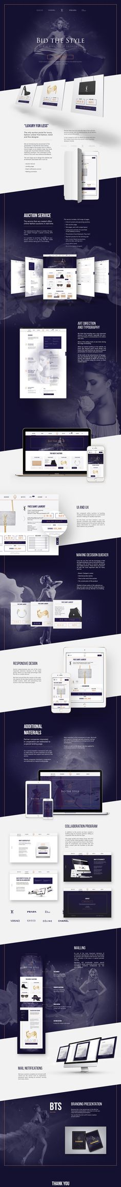 Bid The Style - webdesign on Behance