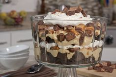 Candy Bar Brownie Trifle | MrFood.com