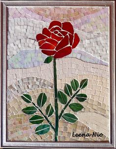 Paper Mosaic, Mosaic Tile Art, Mosaic Birds, Mosaic Artwork, Mosaic Flowers, Glass Artwork, Mosaic Glass, Flower Photo Collage, Flower Photos