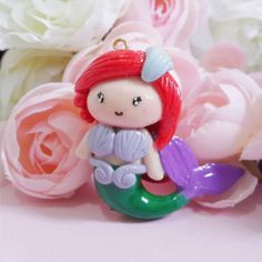 Ariel - Disney Princess   #polymerclay #clay #disneyprincess #disney #ariel #littlemermaid #mermaid #claycraft