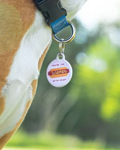 You're the fried chicken, hamburger, AND weiner of my heart! 🌭 Happy #MemorialWeekend everyone! . We have some super punny tags for your little comedian at Dog Tag Art! Find the perfect tag for their fun personality. Hot Dog Weiner, Memorial Weekend, Dog Id Tags, Tag Art, Fried Chicken, Comedians, My Heart, Hamburger, Personality