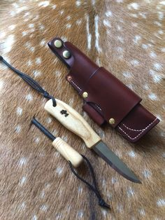 Custom Mora Companion in multicarry sheath with Ash handle and matching ferrorod