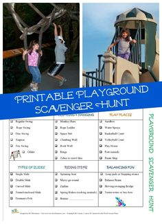 Kids too wiggly and need to get outdoors? Take them to the playground for this interactive scavenger hunt!