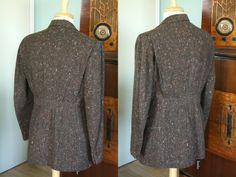 RARE Vintage 1940's 1941 Belted Sport Coat Suit Jacket | eBay