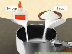 Image titled Make Homemade Polymer Clay Substitute Step 2 Más How to Make Homemade Polymer Clay Substitute. Are you tired of running to the craft store for expensive polymer clay? This wikiHow will show you how to make your own polymer clay substitute. Homemade Polymer Clay, Polymer Clay Recipe, Polymer Clay Crafts, Homemade Resin Recipe, Resin Crafts, Clay Set, Clay Food, Paperclay, Polymer Clay Projects