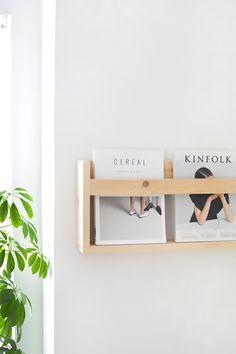 Fun and Creative DIY Furniture Ideas – Voyage Afield Magazine Rack Wall, Diy Magazine Holder, Wooden Magazine Rack, Diy Wooden Shelves, Wooden Diy, Estilo Interior, Diy Regal, Diy Holz, Wall Racks