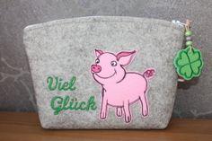 Glücksschwein Stickdatei Kunterbunt design