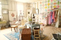 Transforming My Garage Into A Shop - White Lace Cottage--Now THAT's a garage sale worth stopping for.
