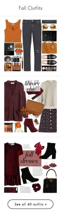 """Fall Outfits"" by ihavepashion-forfashion ❤ liked on Polyvore featuring 8, Mark Cross, Sugar Paper, Sloane Stationery, Graham & Brown, Bobbi Brown Cosmetics, Raey, Miss Selfridge, Clarins and Tommy Hilfiger"