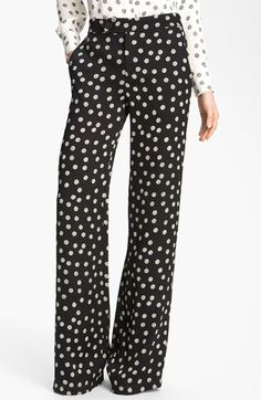 NEED!!!!! 10 Crosby Derek Lam Polka Dot Wide Leg Pants available at #Nordstrom